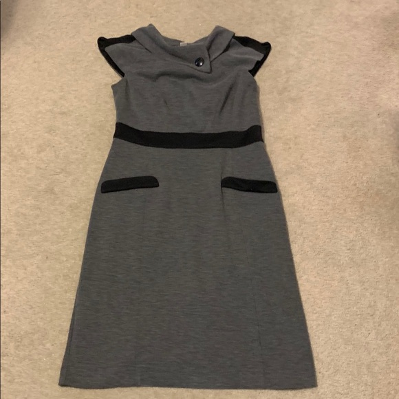 London Times Dresses & Skirts - Black and gray dress... great for work!
